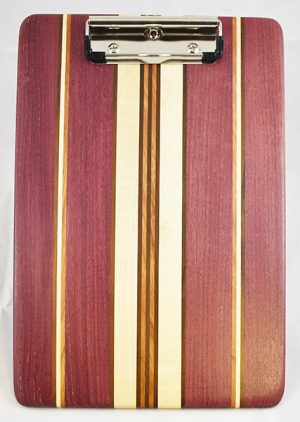 Purple Heart Maple and Jatoba clipboard