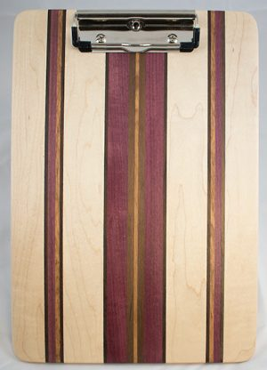 maple and purple heart clipboard