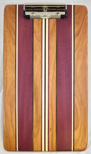 Jatoba and Purple Heart Clipboard