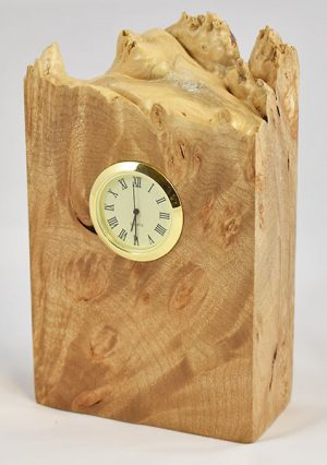 Maple Burl Clock
