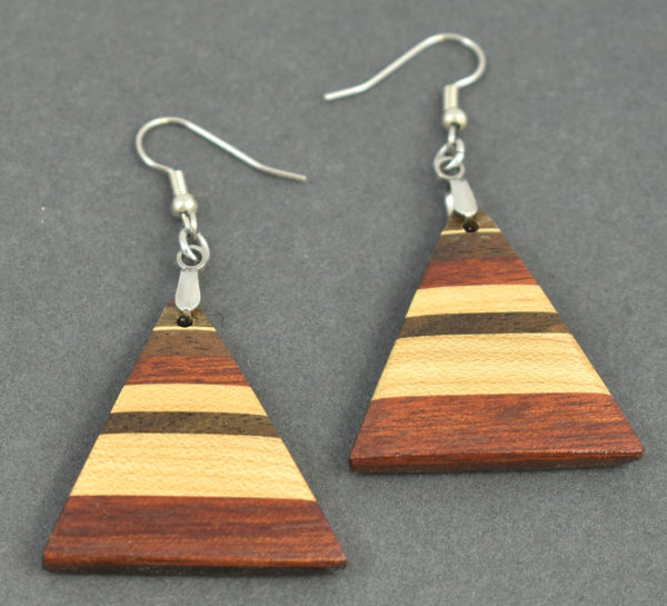 Padauk, Maple and Walnut Earrings