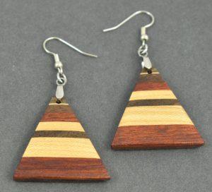 Padauk, Maple and Walnut Earrings